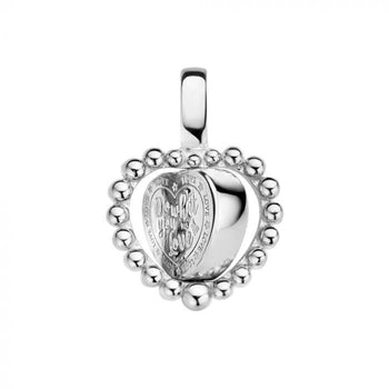 Mi Moneda-MMV QUEENS PENDANT 925 SILVER HEART SHAPED WITH TWISTED CORD