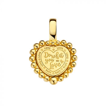 Mi Moneda-MMV QUEENS PENDANT 925 SILVER GOLD PLATED HEART SHAPED WITH TWISTED CORD