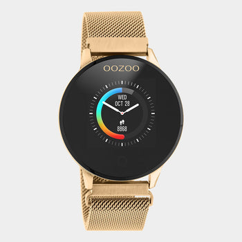 OOZOO ROSE metal strap DISPLAY SMARTWATCH Q00117