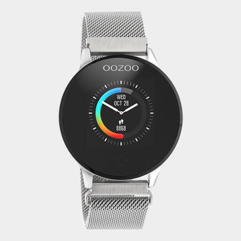 OOZOO Zilver metal strap DISPLAY SMARTWATCH Q00116