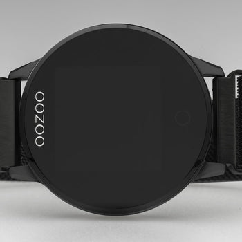 OOZOO Zwart metal strap DISPLAY SMARTWATCH Q00119