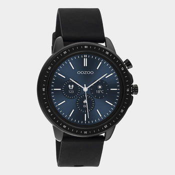 OOZOO Smartwatches - unisex - rubber strap black with black case Q00304