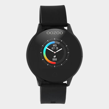 OOZOO ZWART rubber strap DISPLAY SMARTWATCH Q00115