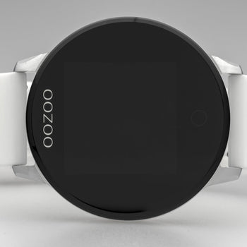 OOZOO WHITE rubber strap DISPLAY SMARTWATCH Q00110