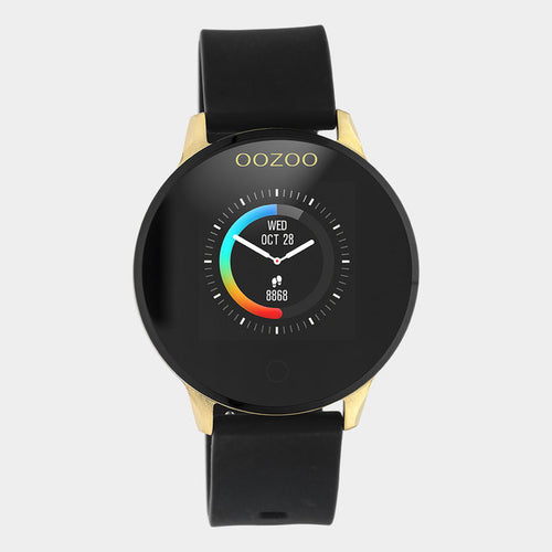 OOZOO Zwart rubber strap DISPLAY SMARTWATCH Q00120