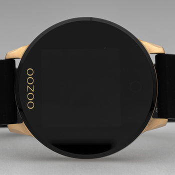 OOZOO ZWART rubber strap DISPLAY SMARTWATCH Q00114