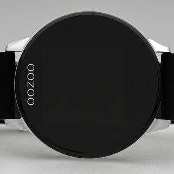 OOZOO ZWART rubber strap DISPLAY SMARTWATCH Q00113