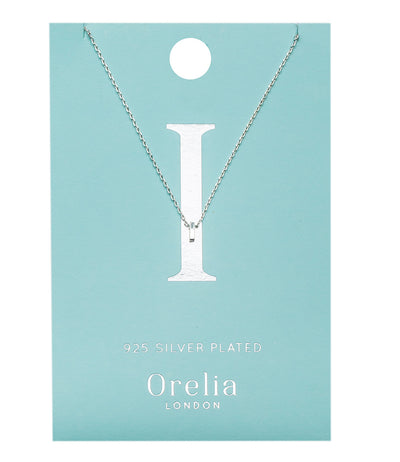 Orelia Ketting zilver plating Letter-I