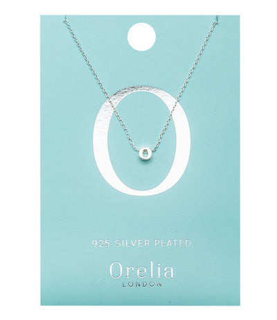 Orelia Ketting zilver plating Letter-O