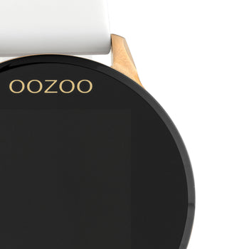 OOZOO WHITE rubber strap DISPLAY SMARTWATCH Q00111