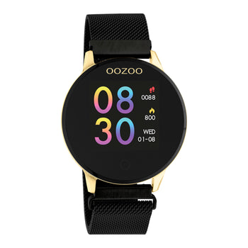 OOZOO Zwart rubber strap DISPLAY SMARTWATCH Q00122