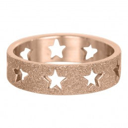 iXXXi invulring Open Stars Sanblasted Zilver R3601-3 6mm