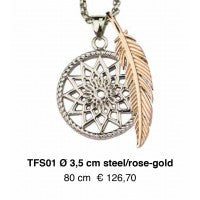 Dreamcatcher Veer - TFS01 Steel/Rose goud 80cm