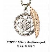 Dreamcatcher Veer - TFS02 Steel/Rose goud 80cm