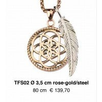 Dreamcatcher Veer - TFS02 Rose goud 80cm