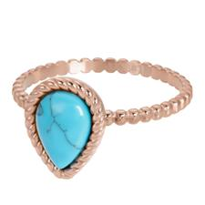 iXXXi invulring Magic Turquoise R05907 Goud, Zilver, Rosé  (2MM)