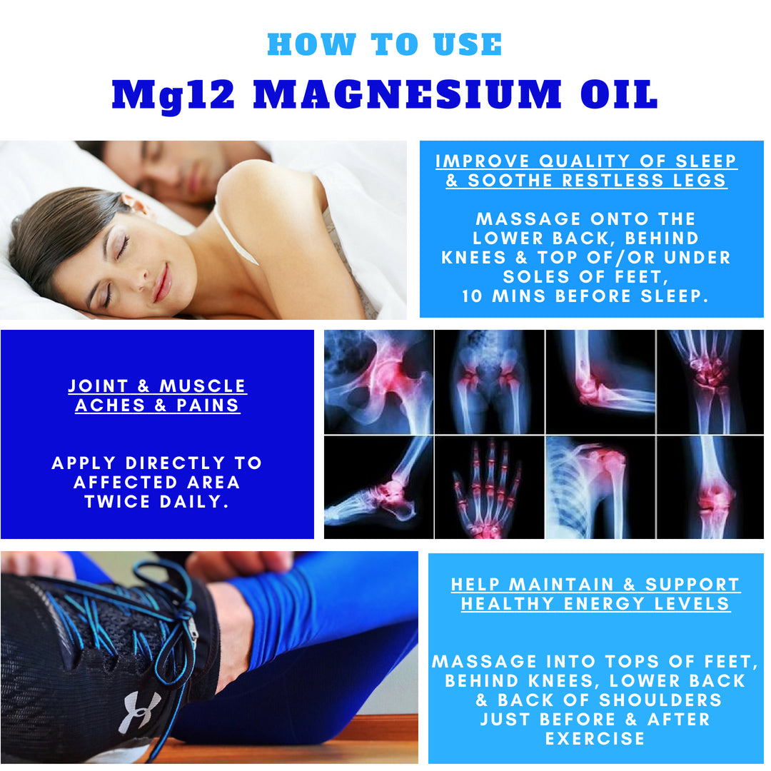 Mg12 Magnesium Oil - how to use guide