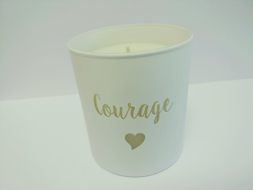 Courage Heart Candle