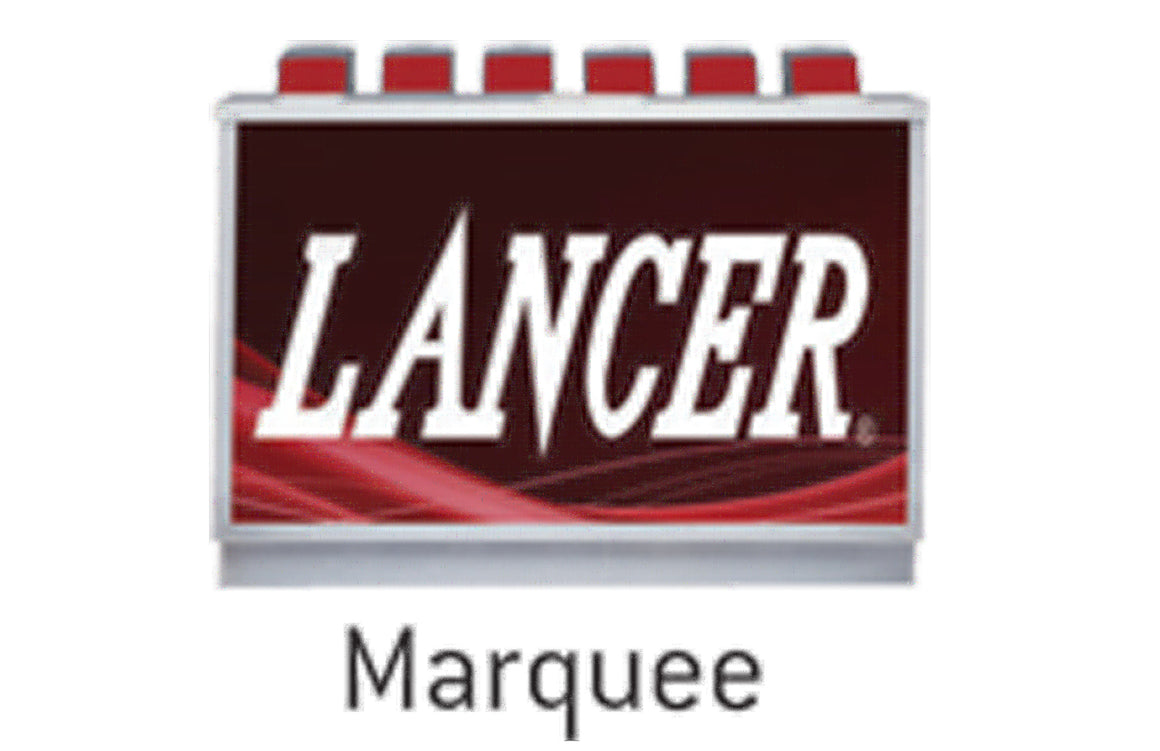 LANCER 23 x 23 DROP IN OR TOWER DISPENSER, REAR LIGHTED MARQUEE