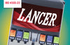 "LANCER 22"" WIDE 6 DRINK ICE COMBO IBD 4500-22 DISPENSER, PUSH BUTTON VALVES"