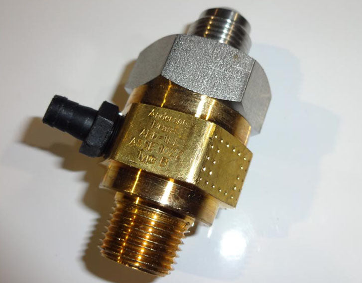 "3/8"" MALE PIPE THREAD IN x 3/8"" MALE FLARE OUT BRASS VENTED CHECK VALVE (BACKFLO PREVENTER)"