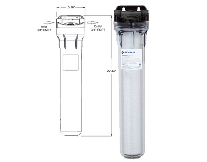 "FILTER E-20 CLEAR 20"" HOUSING PRE FILTER SYSTEM"