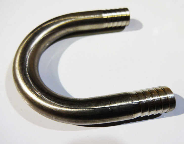 """3-3//8/"""" x 3//8/"""" x 3//8/"""" Stainless Steel Barbed U-Bend Hose Fittings"""