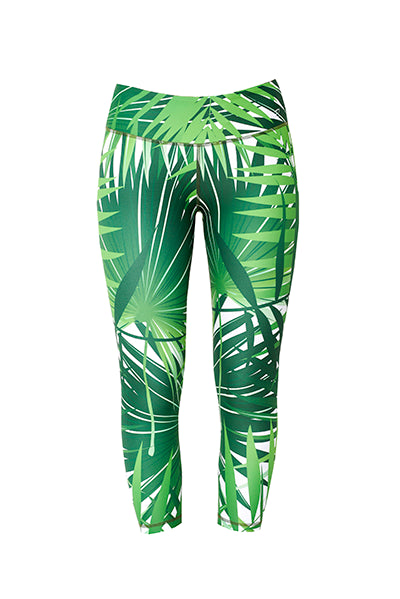 Palm capri leggings – women's gym leggings – cheap workout outfits