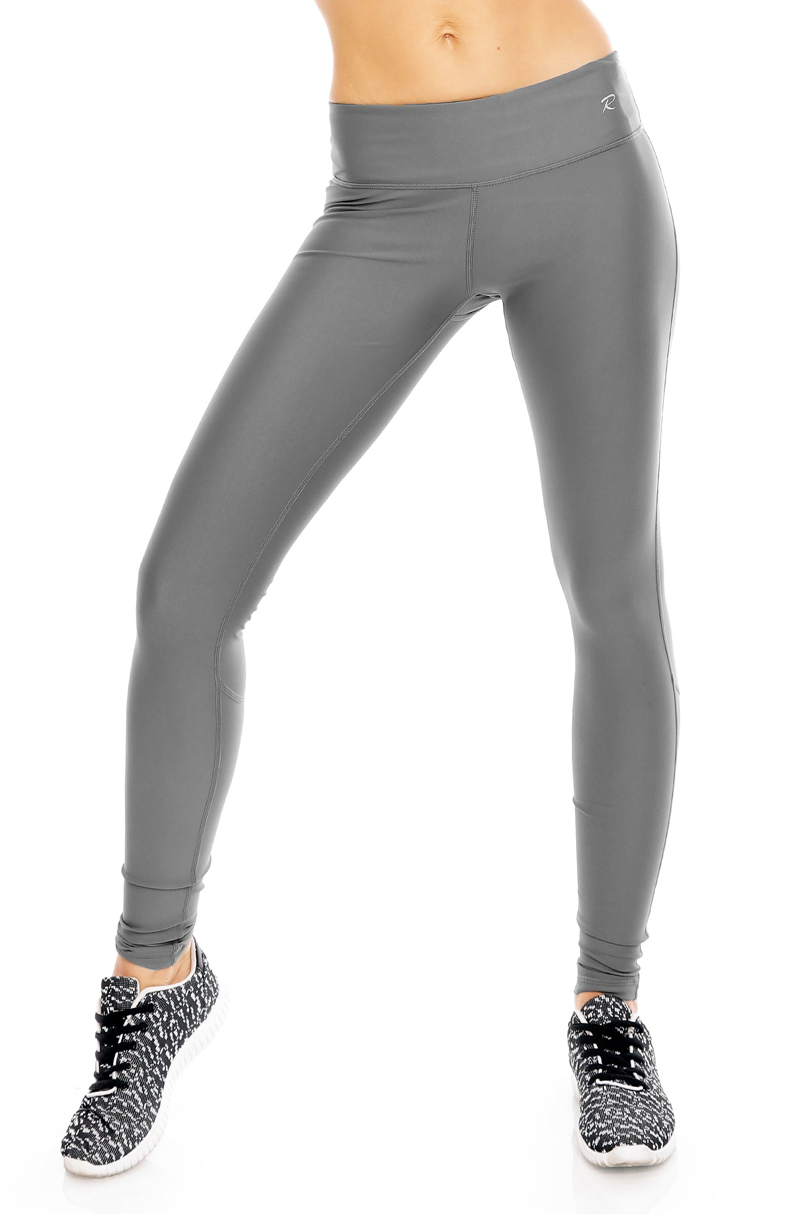 Oyster Grey Full Length Leggings