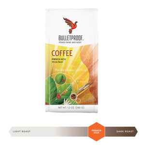 Bulletproof French Kick Dark Roast Whole Bean Coffee 12oz / 340g