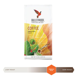 Bulletproof French Kick Dark Roast Ground Coffee 12oz / 340g