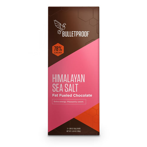 Bulletproof Himalayan Salt Chocolate Fuel Bars (3 pack) - 5.94 oz / 168g Duplicate