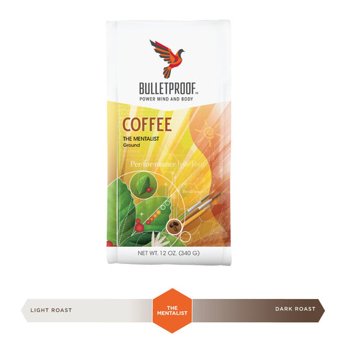 Bulletproof Mentalist Dark Roast Ground Coffee 12oz / 340g