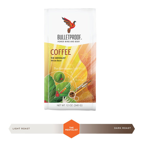 Bulletproof Mentalist Dark Roast Whole Bean Coffee 12oz / 340g