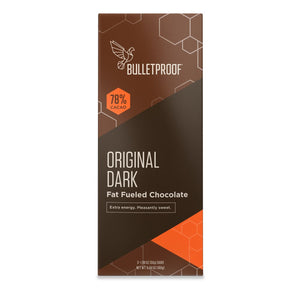 Bulletproof Original Dark Chocolate Fuel Bars (3 pack) - 5.94 oz / 168g