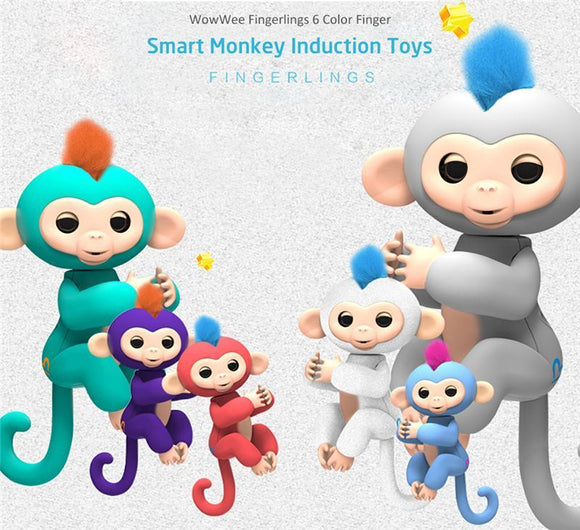Fingerlings - bébé singe Ouistiti interactif