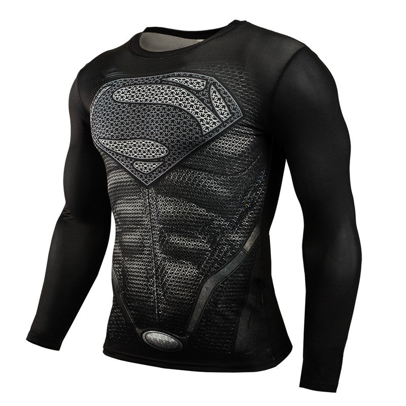 Mens Long Sleeve Superhero Compression T-Shirt - Gadget Idol