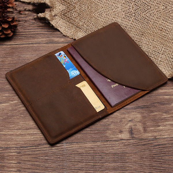 Genuine Leather Passport Wallet - Gadget Idol