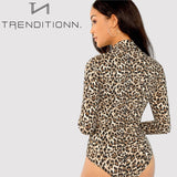 Slim Fitted Leopard Sexy Bodysuit