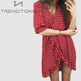 Polka Dot Boho Beach Sundress
