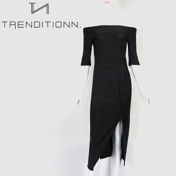Elegant Split Slash Sexy Dress