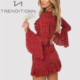Flare Long Sleeve Crop Beach Sexy Dress