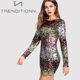 Iridescent Sequin Short Dress