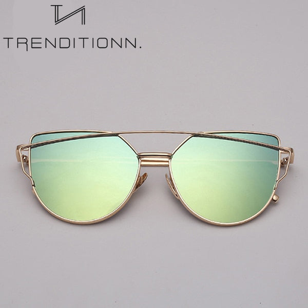 Vintage Metal Cat Eye Sunglasses