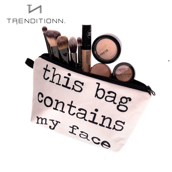 Make up bag with quote | Trenditionn.