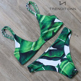 Green leaves bikini