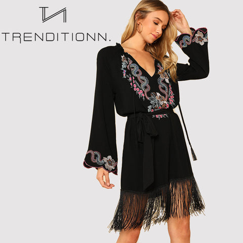Fringe vacation dress