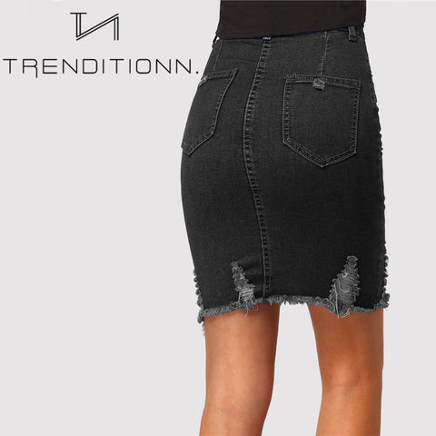 products/Black_Ripped_Denim_Skirt_With_Button_Trendy_1.jpg