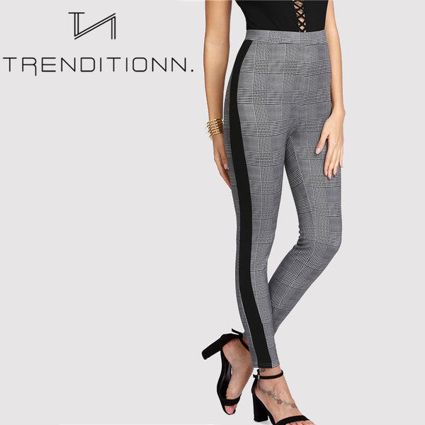 Contrast pencil pants