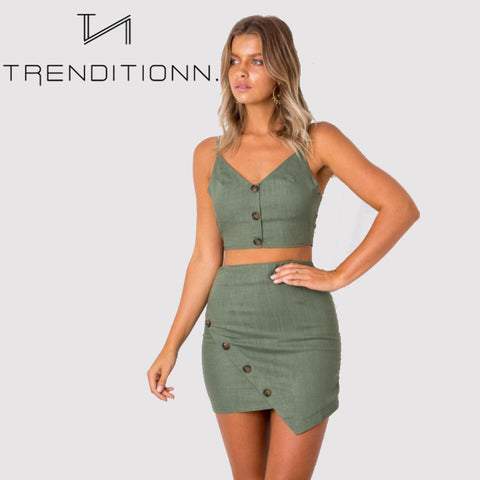 Khaki two piece